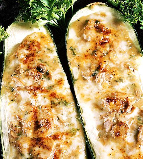 Svampfylld squash | Recept från Köket.se