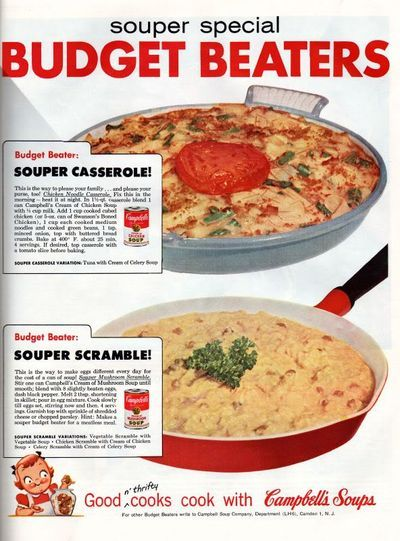 Retro recipes--lots and lots of vintage product recipes here--50s and 60s mostly