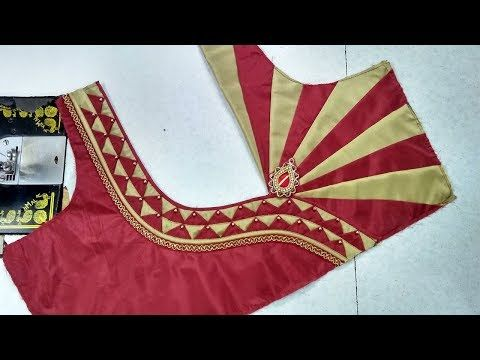 ff844f8331 Easy back neck blouse designing cutting and stitching || womens fashion  blouses - YouTube