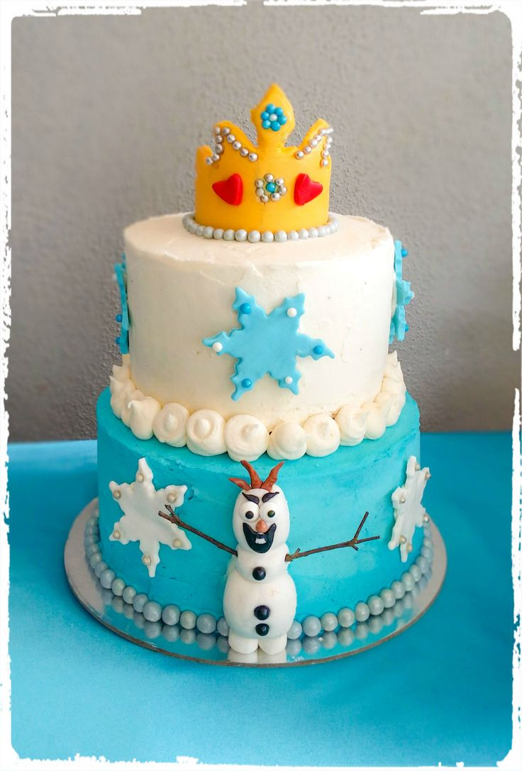 Frozen themed Birthday cake designed by Sweetness Contained