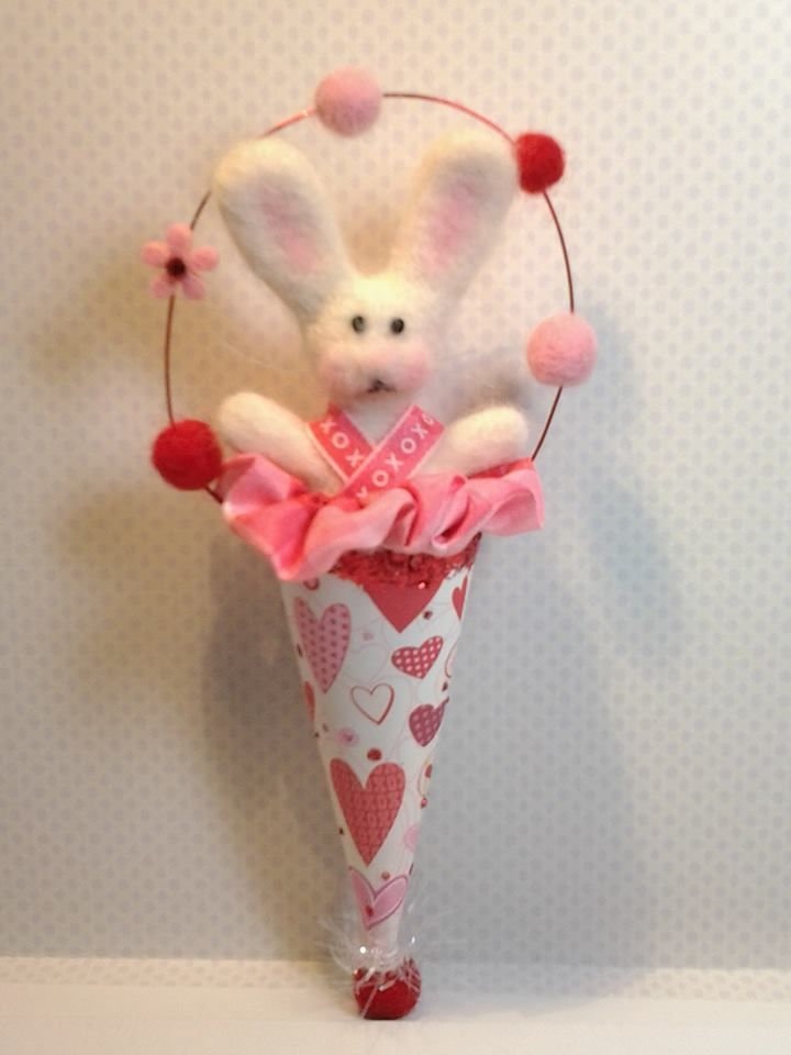 My felted Valentines Bunny