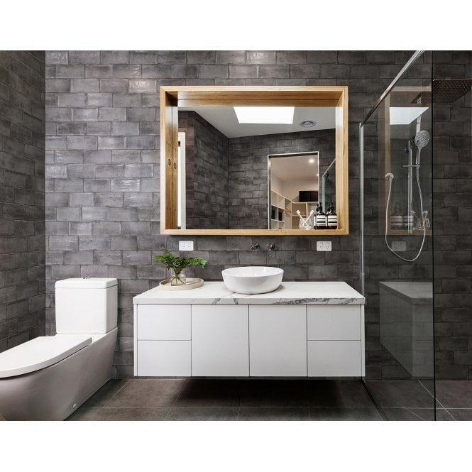 Vita Graphite 10cm X 20cm Wall Tile Ceramic Wall Tiles Wall Tiles Bathroom Wall Tile