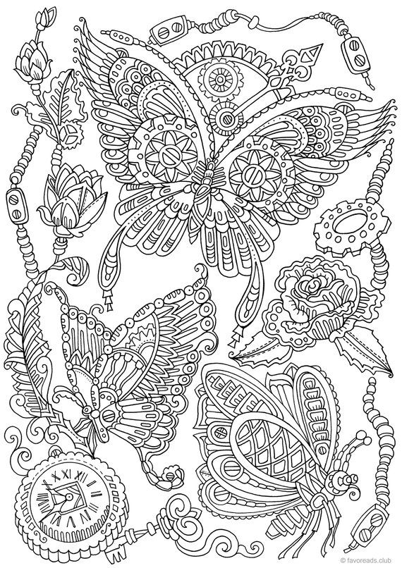 Steampunk Butterflies Printable