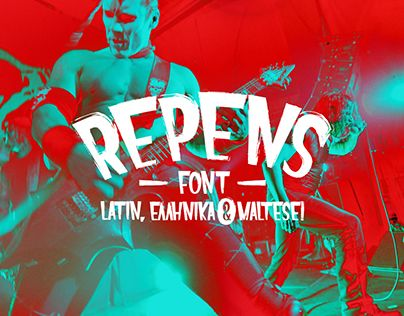 """Check out new work on my @Behance portfolio: """"Repens // Free Typeface""""…"""