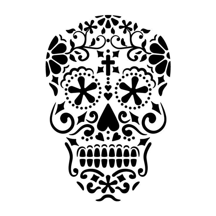 1000 Ideas About Sugar Skull Stencil On Pinterest Stencil Templates And Stencils