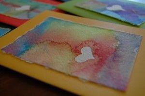 heart resist cardsResistance Watercolors, Resistance Cards, Watercolors Cards, Easy Watercolors Painting, Stickers Resistance, Greeting Card, Water Colors, Watercolors Heart, Heart Cards