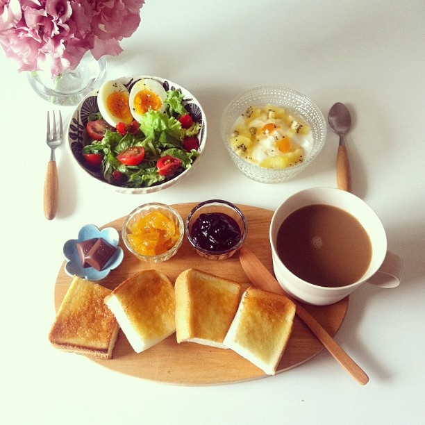 朝ごはん♡ ideal breakfast in bed