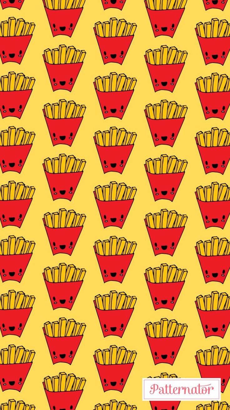 Wallpaper iphone banana -  Pattern Wallpaper Iphone Background Colorful Fries Food Red