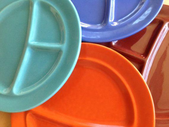 Vintage Metlox California Pottery Divided Grill Plates & 70 best Vintage Retro Dinnerware images on Pinterest | Vintage ...