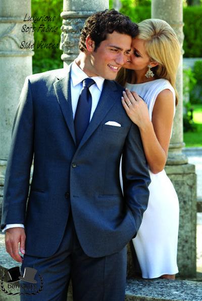Perry Ellis Charcoal Grey Madison tone on tone, Super 100s #suit! #bernardstux