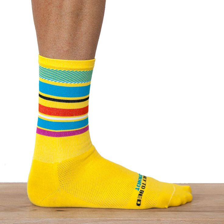 Ornot Yellow Pave Road Sock