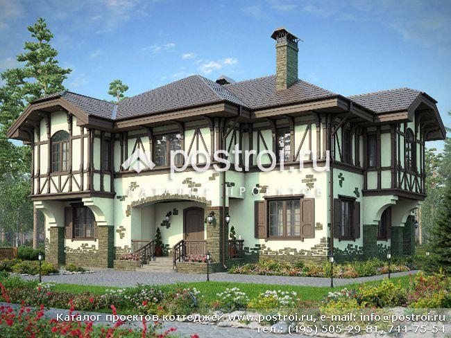 Проект дома в немецком стиле № M-301-1K [M175 (36-42)]