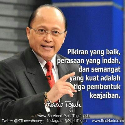 23 best mario teguh saying images on pinterest mario quotes mario teguh reheart Image collections