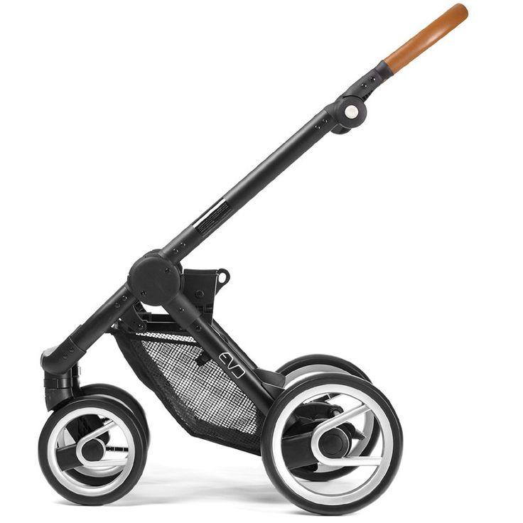 Mutsy Evo Urban Nomad Stroller - Light Grey with Silver Frame