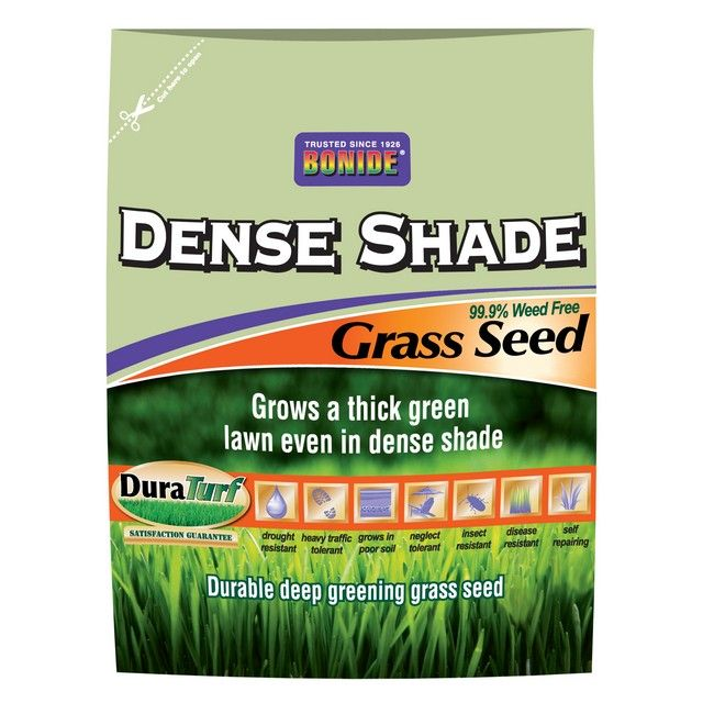 Bonide 50 Lb Dense Shade Grass Seed * Grass seed* Grows a thick green lawn even in dense shade* Durable deep greening grass seed* Drought resistant* Heavy traffic tolerant* Grows in poor soil* Neglect tolerant* Insect and disease resistant* Self repairing* 99.9% weed free* 50 lbs #hometools #homeequipment #homedepot #houseneeds