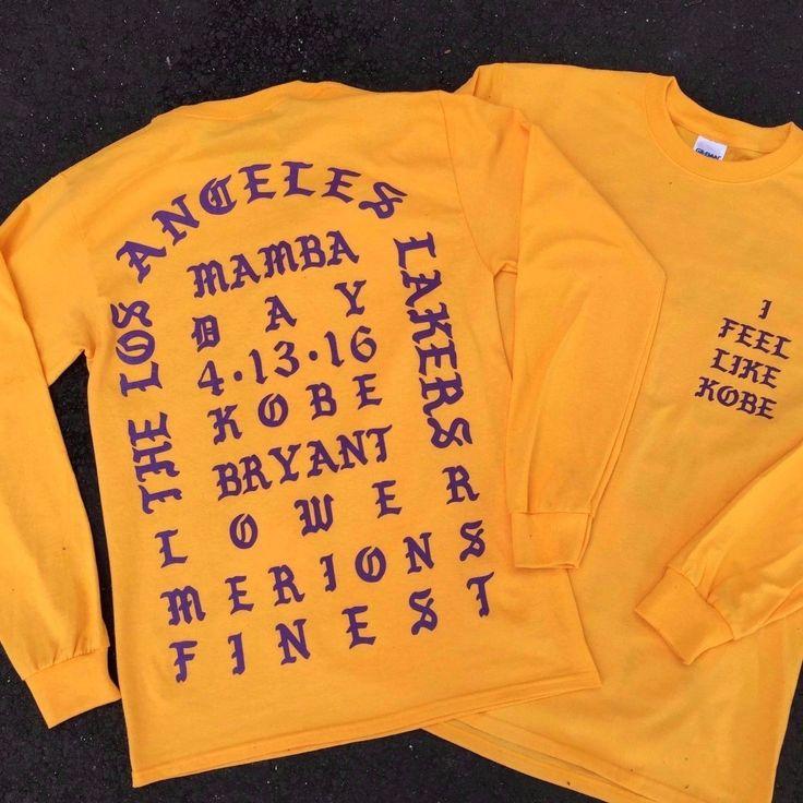 I Feel like Kobe Mamba Day Pablo  MSG Long Sleeve T shirt GOLD - http://bestsellerlist.co.uk/i-feel-like-kobe-mamba-day-pablo-msg-long-sleeve-t-shirt-gold/