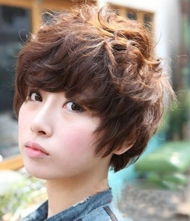 Short Hair Perm Hair Pinterest Perm Short Hair And