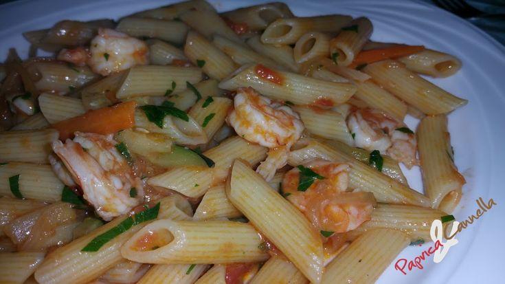 Penne zucchine e gamberetti | Paprica e Cannella