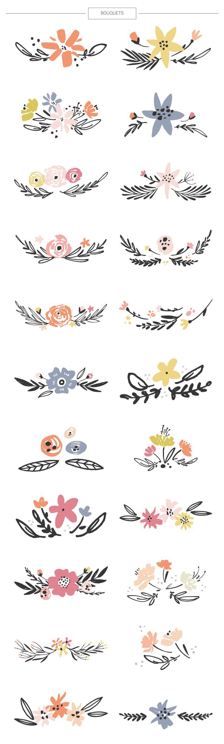 Floral mega-bundle: 1267 elements - Illustrations - 5