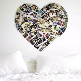 .: Picture, Photo Collage, Photos, Ideas, Craft, Heart, Polaroid, Diy, Bedroom