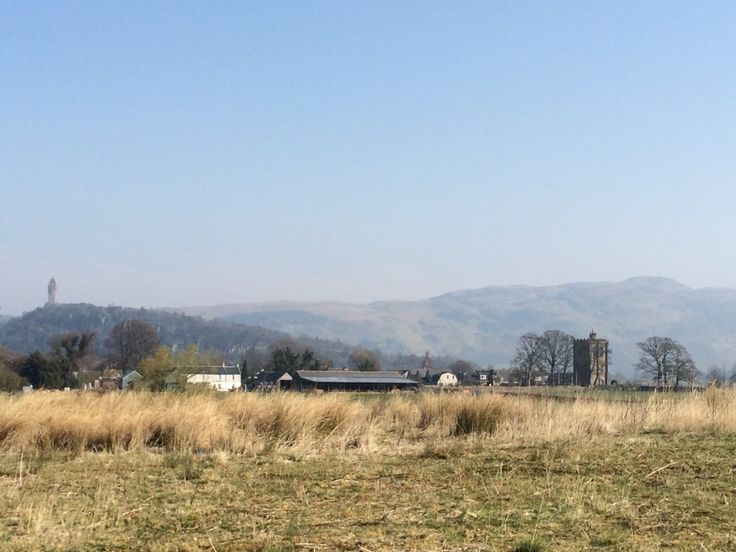 National Wallace Monument and Cambuskenneth Abbey in Stirling, Scotland