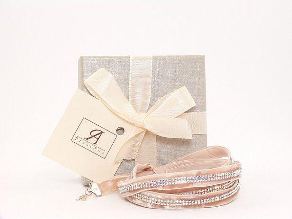 Cream multi strand bracelet, cream wedding bracelet, cream multi strand bridal wrap bracelet
