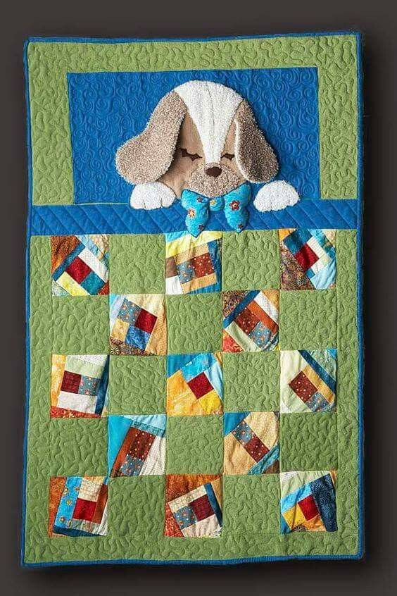 3D Puppy Quilt- so cute!