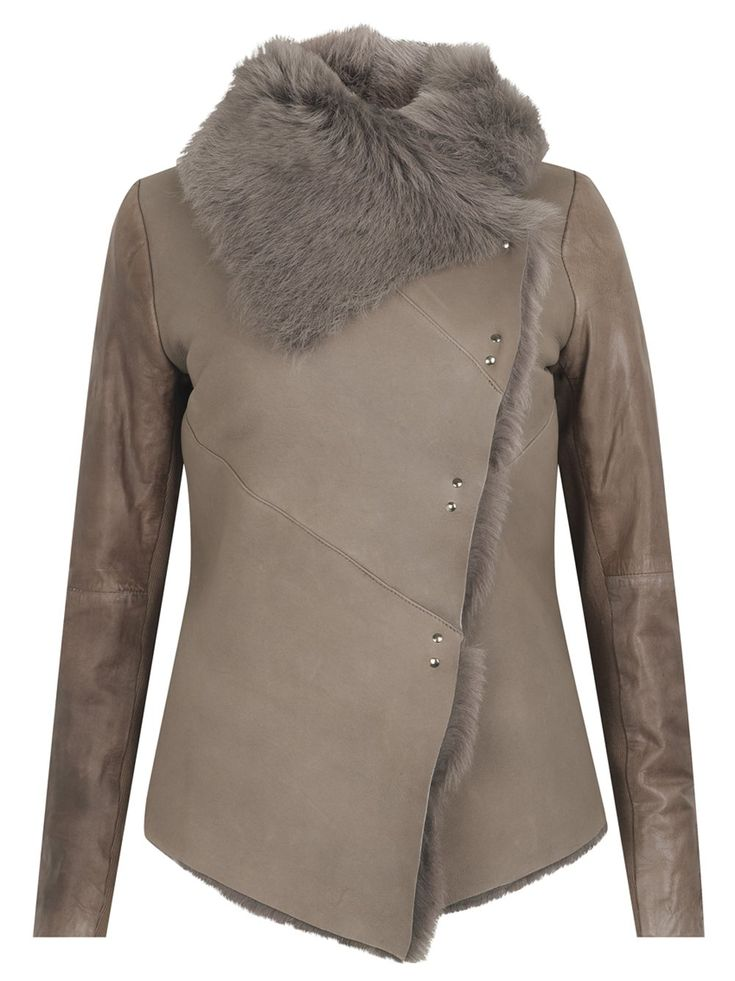Muubaa Heneley Shearling Jacket in Bisque