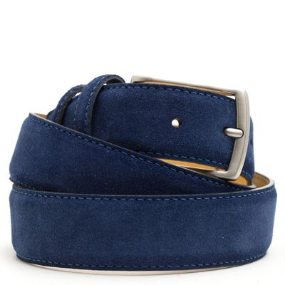 Suede riem: Navy Blue by ColorMeSocks™