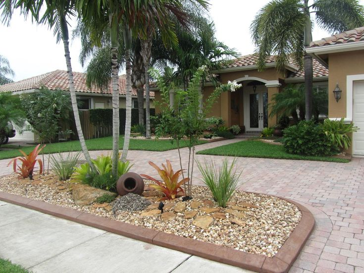 25 best ideas about palm trees landscaping on pinterest for Low maintenance pool landscaping