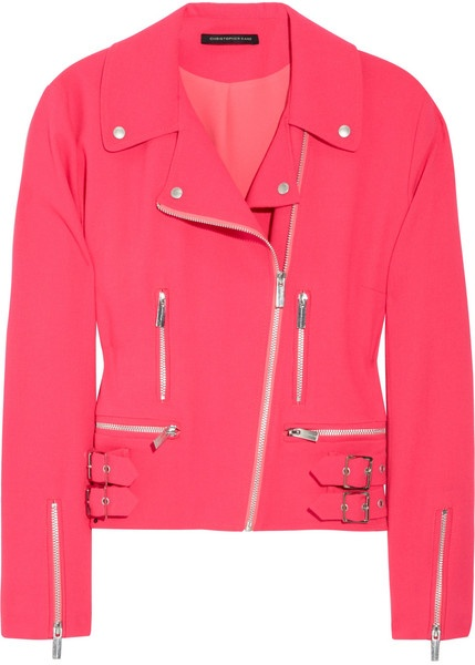 Christopher kane England Wool-blend Crepe Biker Jacket  ~ yes! :)