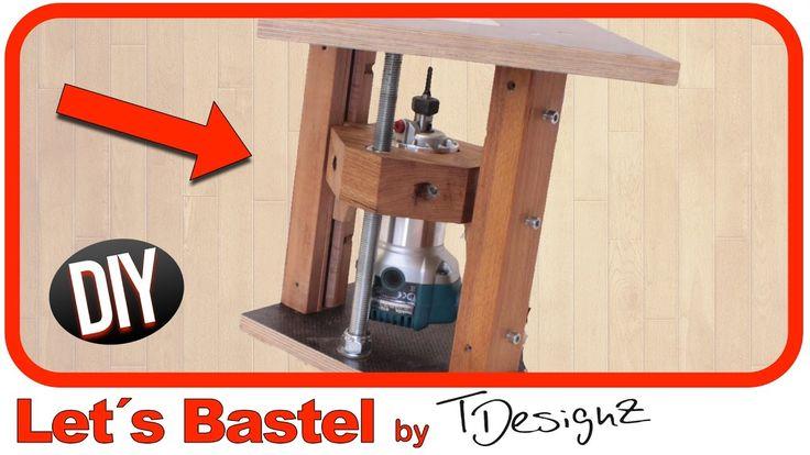 (1/3) Fräslift aus Holz selber bauen. Nur für Profis geeignet!