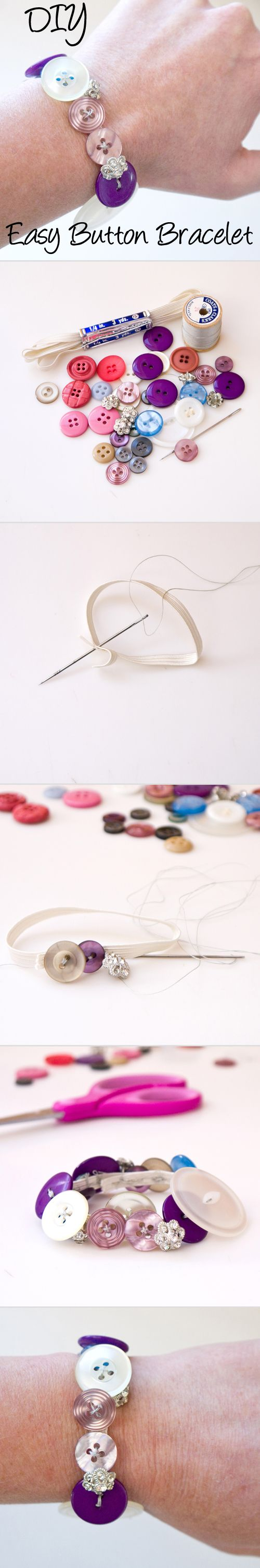 This fun DIY makes a great last-minute gift or a project with young daughters and nieces. (NANA's button collection!)