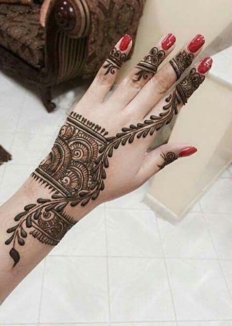 Latest Simple Arabic Mehndi Designs 2018 For Hands