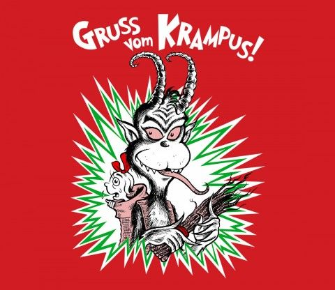 I've been scaring my nephew Matt with tales of the Krampus since he was a baby. I'm also hugely influenced by the good Doctor's books all my life. So I thought it would be fun to combine these two characters for the holiday. @teefury