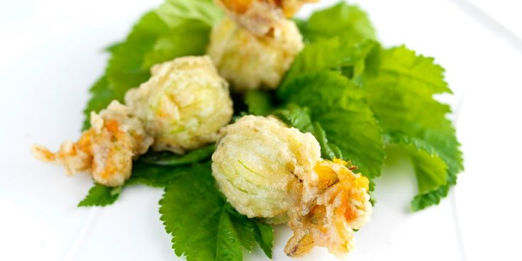 Frances Atkins' delicate stuffed courgette flowers recipe is both classic and innovative. Frances calls for the courgette flowers to be…