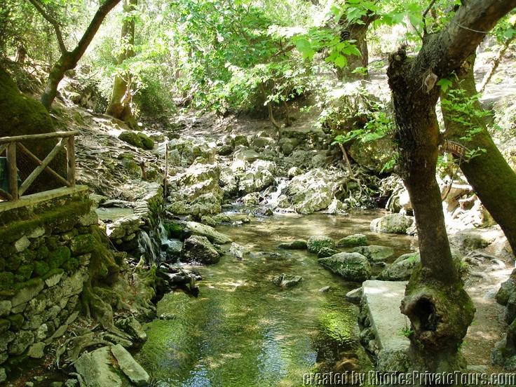 The Seven Springs - Rhodes Island Greece