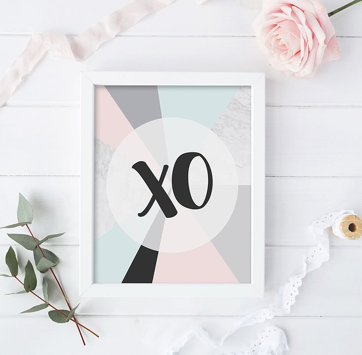 Marble and pastel colours. A4 size XO print.