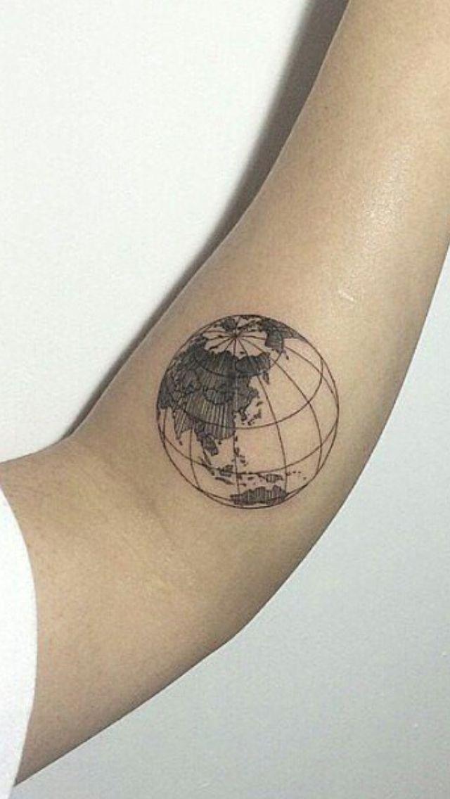 globe tattoo    pinterest: lovelydasani   