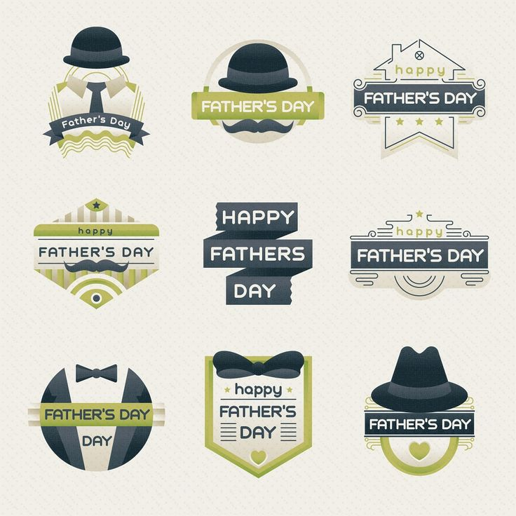 cute vintage fathers day sticker