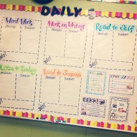 Simply Second Grade: Daily 5 Board #teachertalktuesday