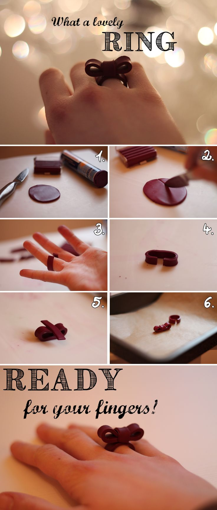 A lovely Ring - DIY  out of FIMO!
