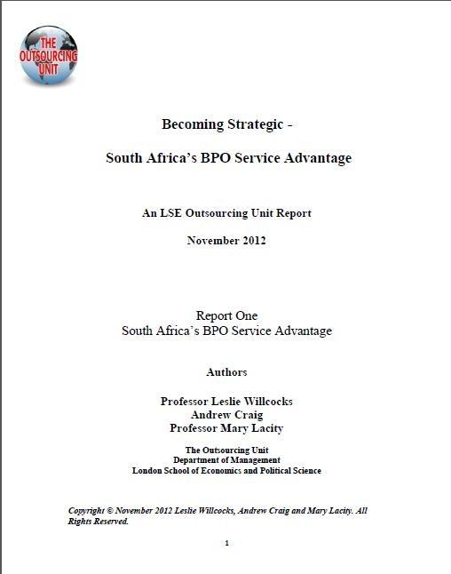 Strategic Planning - the BPO Service Advantage