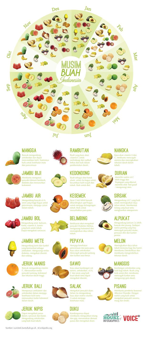 Infografis: Musim Buah di Indonesia - House of Infographics