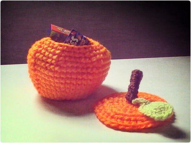 Especial Halloween: cesta en forma de calabaza para las golosinas a crochet | Margarita Knitting