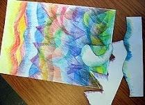 art lesson ideas: Cut Practice, Art Lessons, Colors Mixed, Art Ideas, Colors Pencil, Photo, Cut Outs, Art Projects, Artlessons