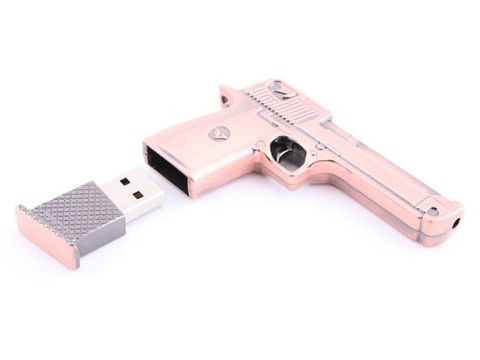USBGeek — Metallic Pistol USB Drive