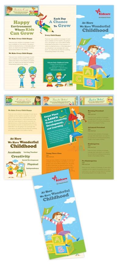 Child Development School Tri Fold Brochure