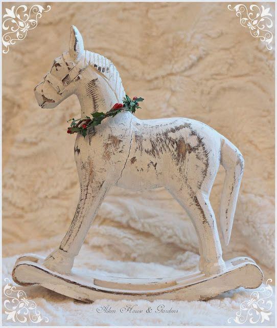 Christmastime ~ aiken house & gardens, children's rocking horse