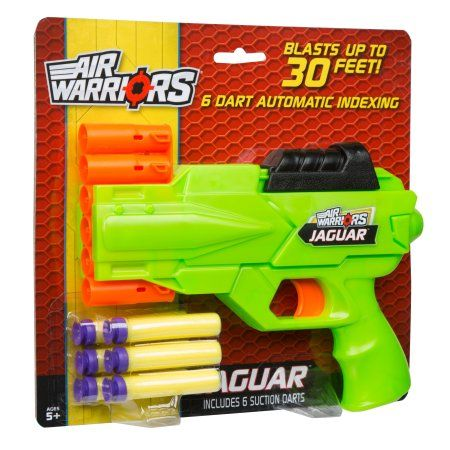 Buzz Bee Toys Air Warriors Jaguar Blaster, Blue